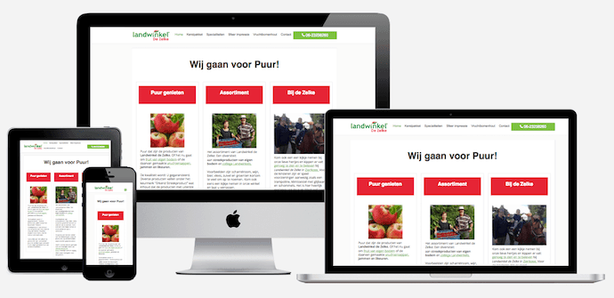 Wordpress website- Landwinkel