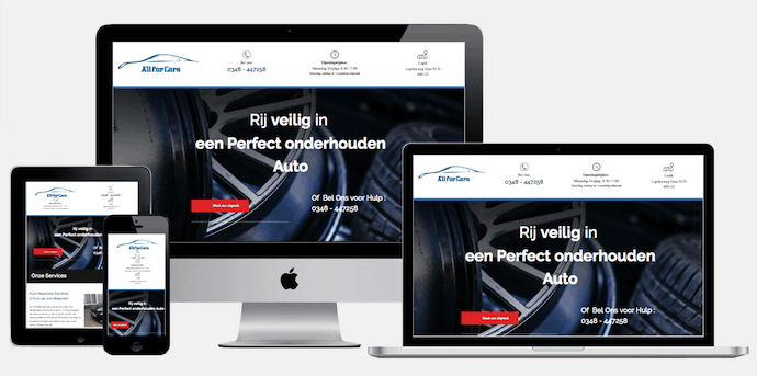 Wordpress website autogarage